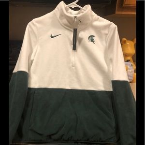 Women's New Nike MSU Half Zip Up